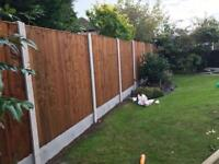🚜Brown Feather Edge Straight Top Fence Panels