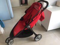 Baby jogger city lite strolller pram red