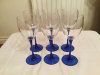 Luminarc wine glasses x6 £10 can deliver if local 8inches high call 07812980350