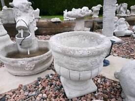 Concrete Flower Pots Garden