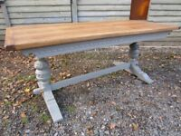 Lovely 6ft Large Oak Refectory Dining Table by Old Charm Painted Farrow & Ball - Osmo Polyx Oil