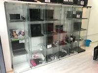 Glass display retail unit cabinet for shop home