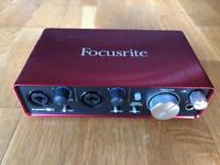 Scarlett Focusrite 2i2 studio audio interface