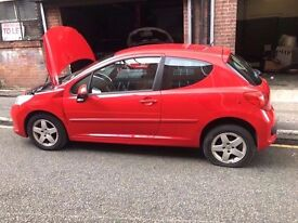 PEUGEOT 207 RED KKNB 8FS DAMAGED SALVAGE BREAKING SPARE PARTS 2006-2012