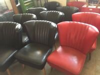 Set of 4 Black BARTHOLOMEW Chairs German Mid-Century Comfy Iconic 1950's