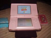 NINTENDO DS LITE WITH POKEMON GAME AND CHARGER