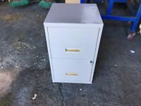 STEEL 2 DRAW FILING CABINET GREY WITH KEY