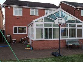 Large UPVC conservatory 5m X 5m gable end