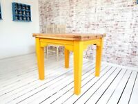 Extending Farmhouse Tapered Leg Dining Table to Seat Eight People - Modern Rustic Style
