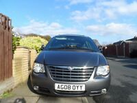 2008 Chrysler Voyager Executive Crd 2776CC Diesel 5DR, Auto ONLY 58,000 MILES Leather seats 7 seater