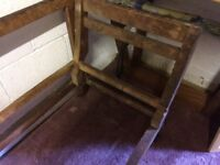 Double Drop-end Victorian Settee frame in exceptional condition