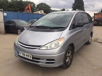 2001 | Toyota Previa GLS | Auto | Petrol | 1 Former Keeper | Service History | 1 Year MOT |HPI Clear