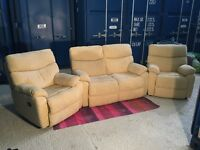 Perfect condition beige three piece suite. Pet-free and smoke free house. £450 ONO