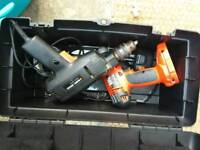 two power Black and Decker power drill electric tools