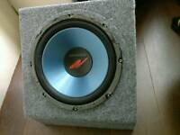 Kenwood 600 sub and 500 amp c/w box