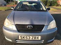 Diesel, 2003 Toyota Corolla T2 D4D 2.0 5dr, FULL YR MOT, Full S/H,like astra vectra mazda mondeo