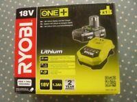 RYOBI 18V Lithium Battery, Fast Charger and 18V Buffer