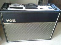Vox AC30 CC2x30 watt all valve guitar Amplifier as new
