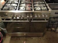 Kenwood stainless steel range gas cooker and electric ovens 90cm