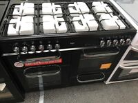 New Graded Bush 100cm Duel Fuel Range Cooker - Black