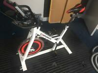 Confidence Adjustable tension spin exercise bike