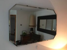 Vintage Retro Art Deco Frameless Mirrors ( £40 each)