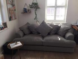 Next grey 3 seater sofa