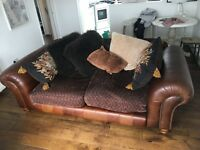 Sofa, armchair and foot stool set