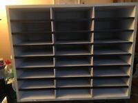 Pigeon Hole Craft Cupboard Unit Organiser