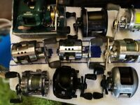 over 30 multiplier fishing reels boat and beach new and used