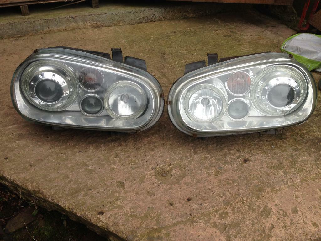 Volkswagen Golf MK4 R32 Style Projector Headlights HID Xenon GTi