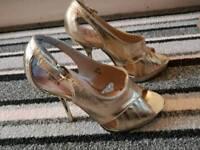 Miss kg gold heels size 5