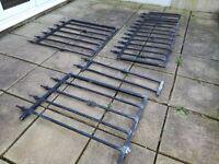 Galvanised Wrought Iron Railings & Gate