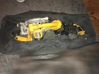 Dewalt 18v volt combi drill circular rip saw torch 2 batteries charger and bag