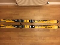 Salomon X scream 150 cm skis and Salomon 500 bindings