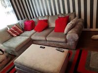 Crushed velvet sofa excellent condition