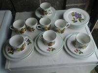 Trade Winds Tea Set - Six cups, saucers and teaplates