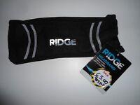 Unisex Ridge Headband. Black. One size