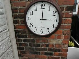 outdoor clock.