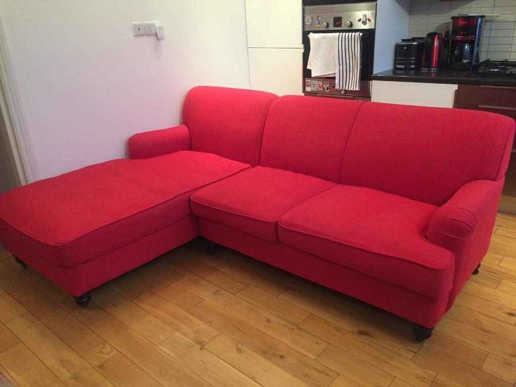 REDUCED: Sofa from Made (Orson, right chaise in red)   in Kilburn ...