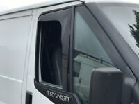 SNED Premium Quality Dark Smoked In Channel Wind Deflectors Ford Transit Mk7 Van All Models