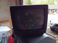 """Portable 14"""" Daewoo TV for multiple use"""