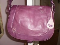 Radley pre-loved purple leather cross body/ shoulder bag
