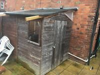 Wooden shed 6x8ft