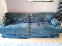 Large Navy Corduroy IKEA Sofa