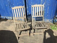 beautiful pair of solid scan com hardwood garden chairs in great condition