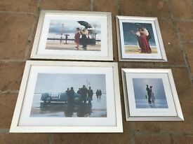 Jack Vettriano framed pictures x 4