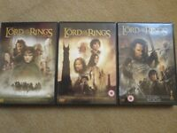 THE LORD OF THE RINGS TRILOGY DVD BUNDLE – 3 ORIGINAL DVDs £2
