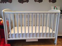 John Lewis cot with a mattress - excellent condition