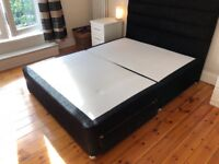 Sprung base divan bed - king size